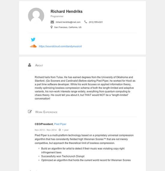 themes  u2014 json resume